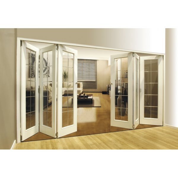 Jeld wen internal roomfold moulded aegean door system for Internal folding doors systems