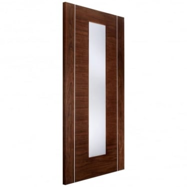 LPD Doors Internal Walnut Fully Finished Alcaraz Europa Door with Frosted Glass