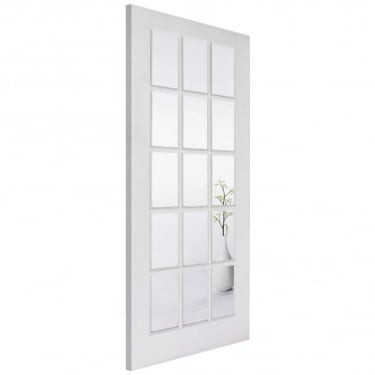 LPD Doors Internal White Primed SA 15L Door with Clear Glass