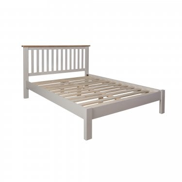 Isabela Double Low End Bed, Dove Grey