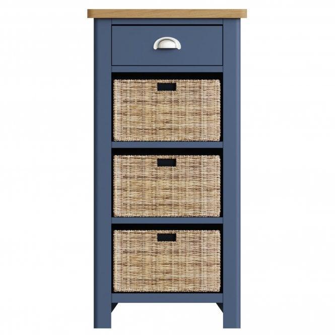Isabella 1 Drawer 3 Basket Unit, Blue
