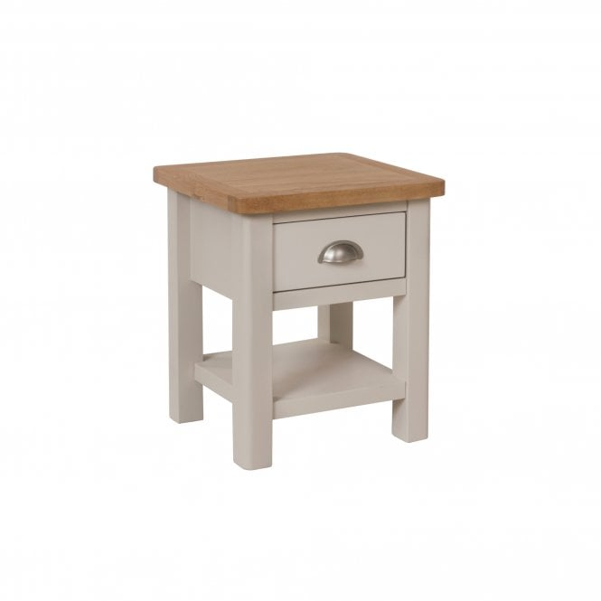 Isabella 1 Drawer Lamp Table, Truffle Grey