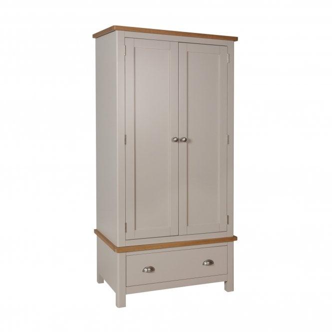 Isabella 2 Door 1 Drawer Combination Wardrobe, Truffle Grey