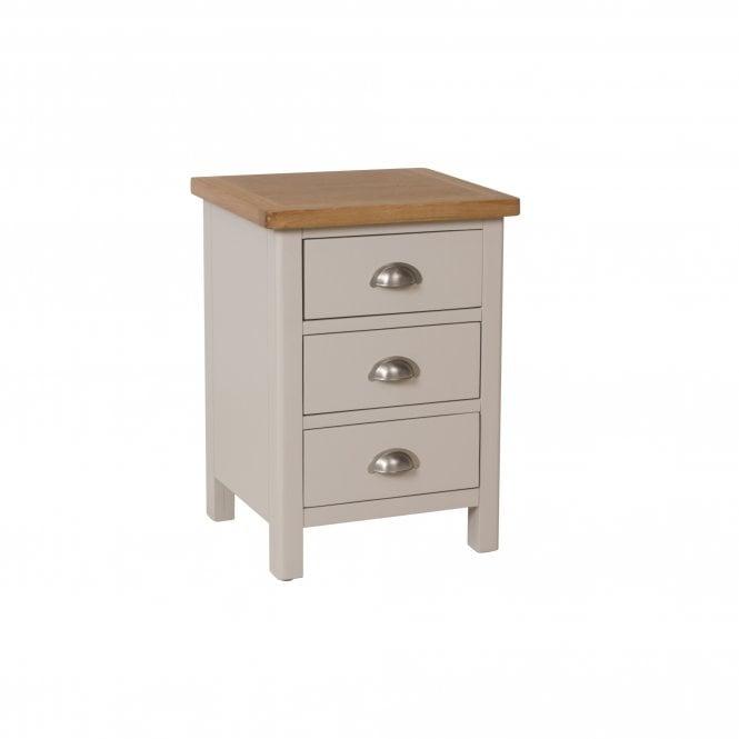 Isabella 3 Drawer Bedside Cabinet, Truffle Grey