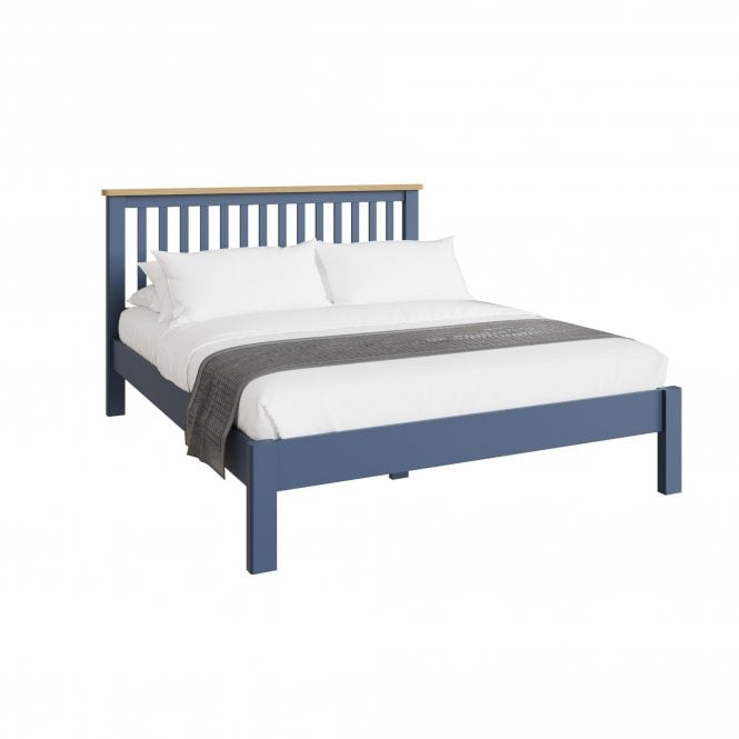 Isabella Kingsize (5'0'') Low End Bed, Blue Fabric