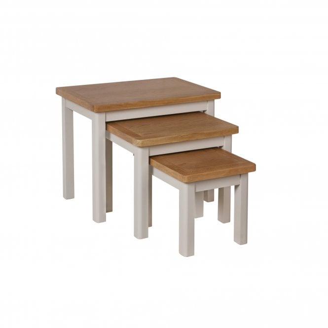 Isabella Nest Of 3 Lamp Tables, Truffle Grey