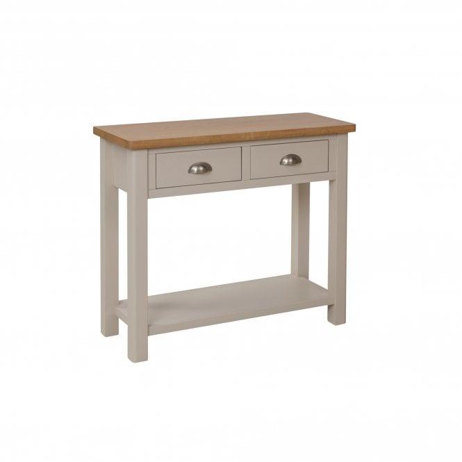 Isabella Rectangular 3 Drawer Console Table, Truffle Grey