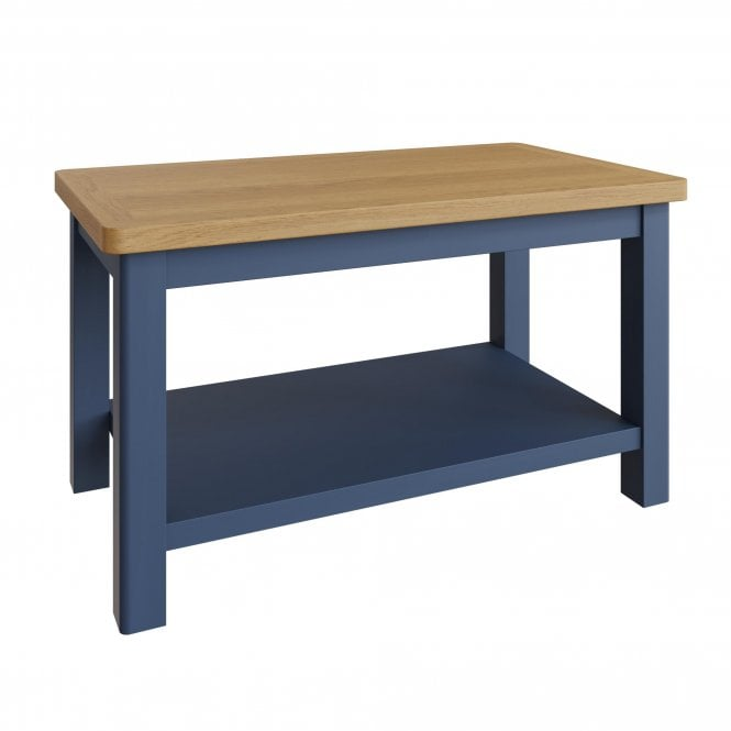 Isabella Rectangular Small Coffee Table, Blue