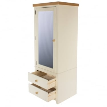 Jamestown Soft Cream 2 Drawer 1 Door Wardrobe