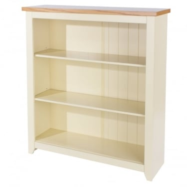 Jamestown Soft Cream Low Bookcase with Adjustable Shelves