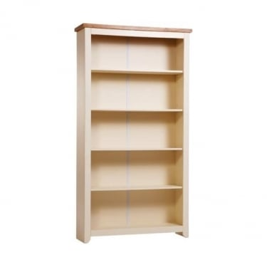 Jamestown Soft Cream Tall Bookcase with Adjustable Shelves