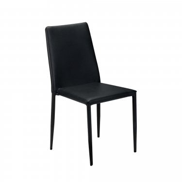 Jazz Black Faux Leather Chair