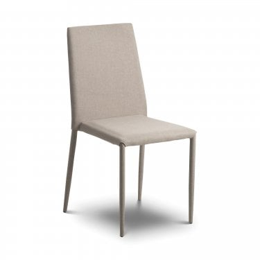 Jazz Dining Chair Set Of 2, Sand Grey Linen