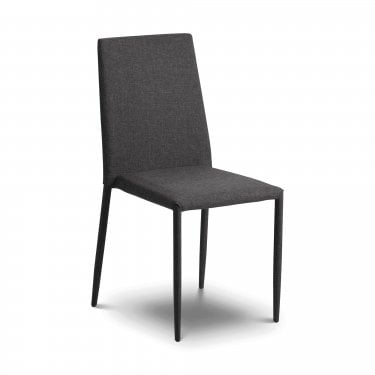Jazz Dining Chair Set Of 2, Slate Grey Linen