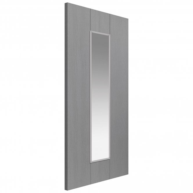 JB Kind Doors Internal Fully Finished Slate Grey Nuance Ardosia Door With Clear Glass