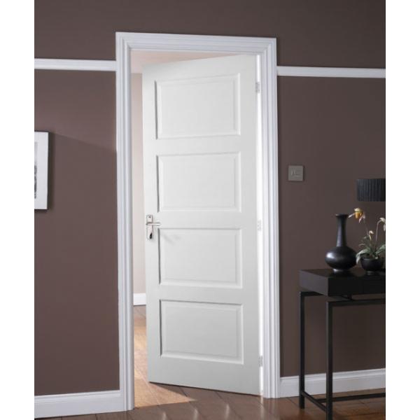 Jeld wen avesta internal white primed 4 panel shaker door leader stores - Interior shaker doors panel ...