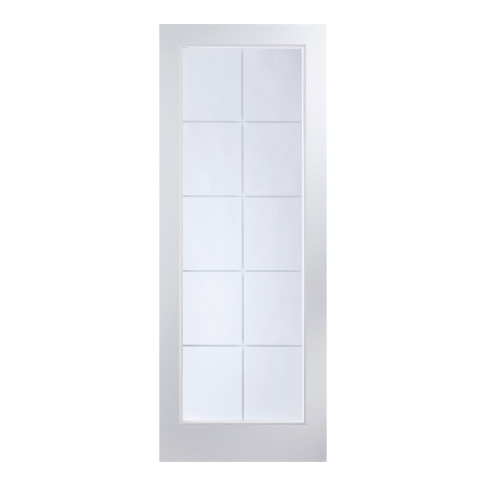 Jeld wen internal white moulded atherton 10 light etch for 10 light door