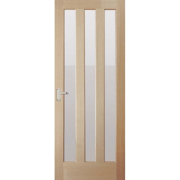 Jeld wen internal oak aston door with clear glass leader stores - White glass panel internal doors ...