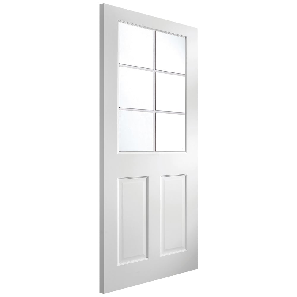 Jeld wen internal white primed avesta 6 light clear glass - White doors with glass internal ...