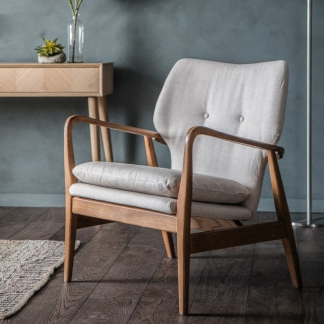 Jensen Armchair, Natural Grey