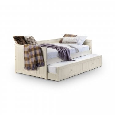 Jessica Stone White Single Daybed & Trundle Bed