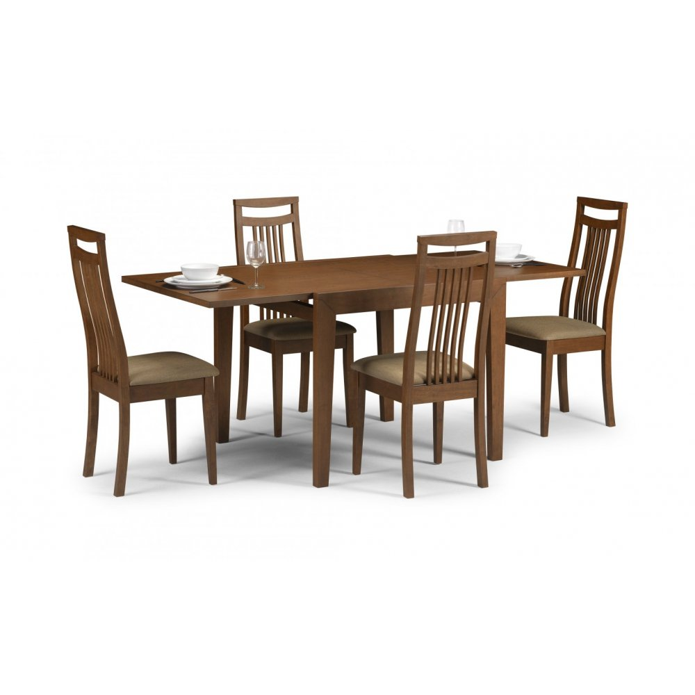 Dining table walnut dining table and 4 chairs for Walnut dining table