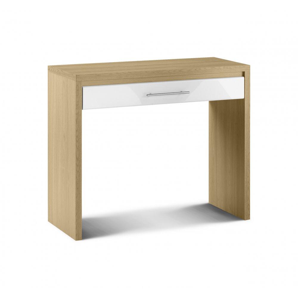 Contemporary Dressing Tables : ... Bowen Stockholm White High Gloss/Oak Contemporary Dressing Table
