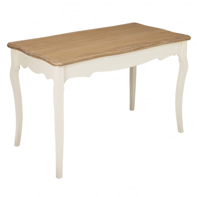 Juliette Rectangular Dining Table, Soft White & Distressed Pine