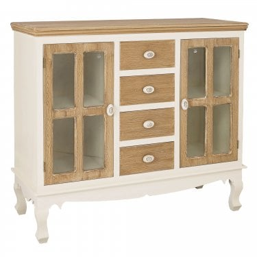 Juliette Soft White 4 Drawer 2 Door Sideboard