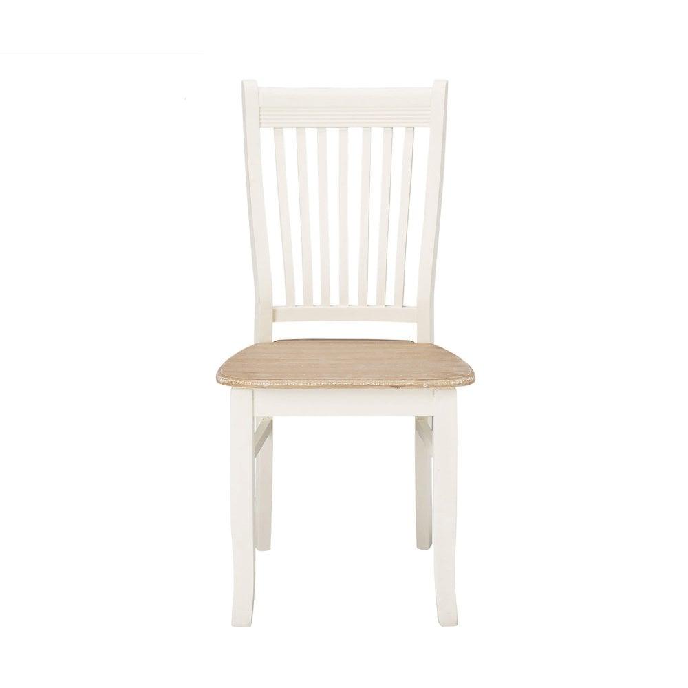 Juliette soft white dining chair pair