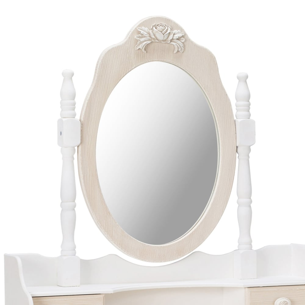 Juliette Soft White Dressing Table Mirror