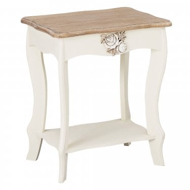 Juliette Soft White Lamp Table