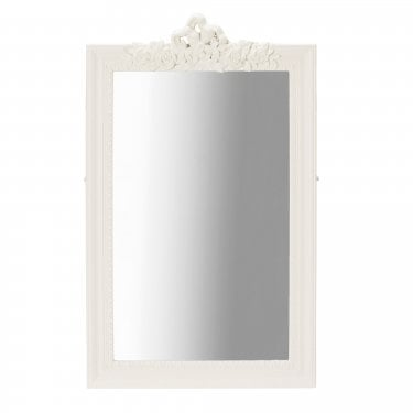 Juliette Soft White Wall Mirror