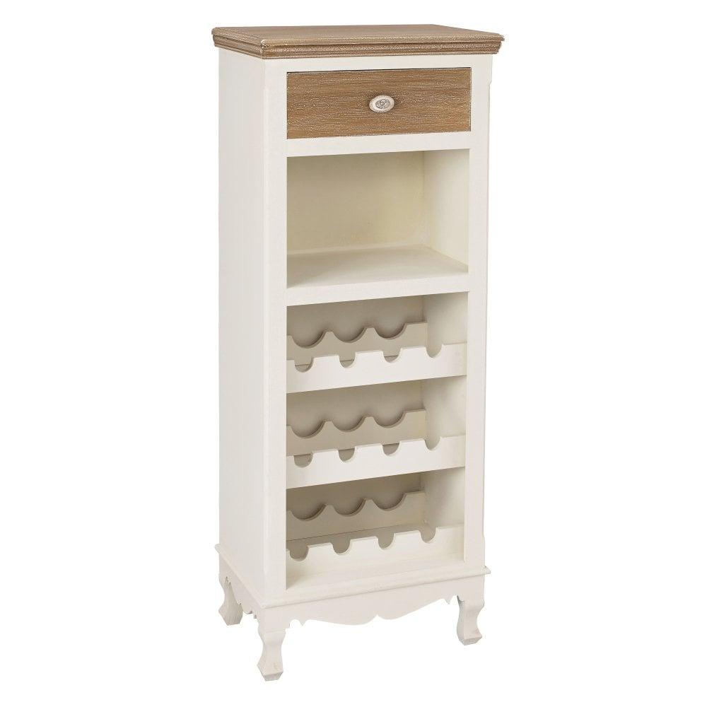Lpd Furniture Juliette Soft White Wine Rack Leader Stores