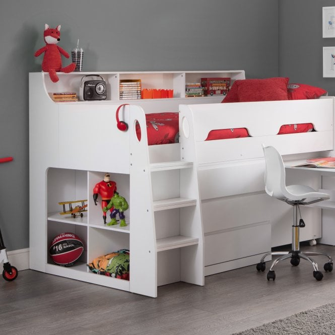 Jupiter Single (3'0'') Cabin Bed, White