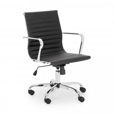Karla Office Chair, Black Faux Leather