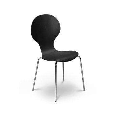 Keeler Chrome & Black Dining Chair