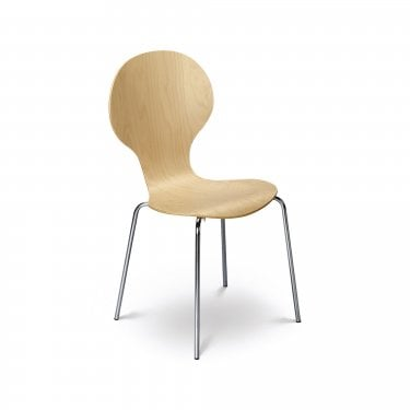Keeler Maple & Chrome Chair