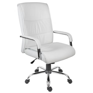 Kendal White Executive Chair with Chrome Base
