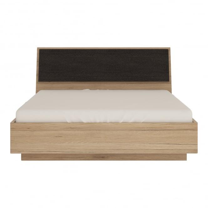 Kensington Double (4'6'') Ottoman Bed, Oak Effect & Dark Oak Effect Headboard