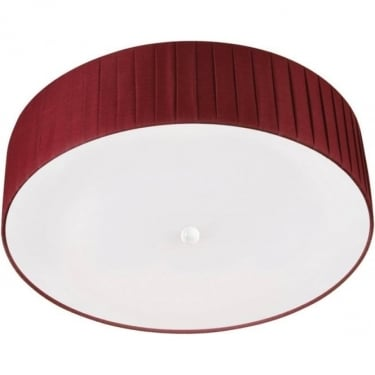 Oaks Lighting Kildara Large Wine Pleated Ceiling Light