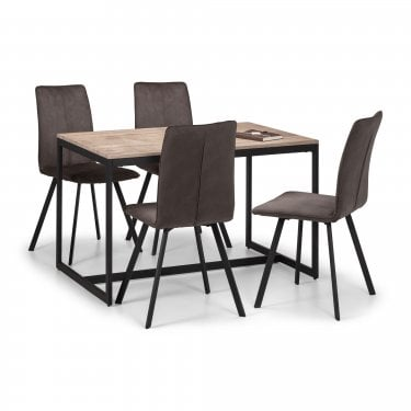 Kinsley Piper Dining Set Of 4, Sonoma Oak Effect