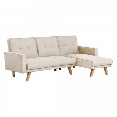 Kitson 3 Seater L-Shaped Sofa Bed, Beige
