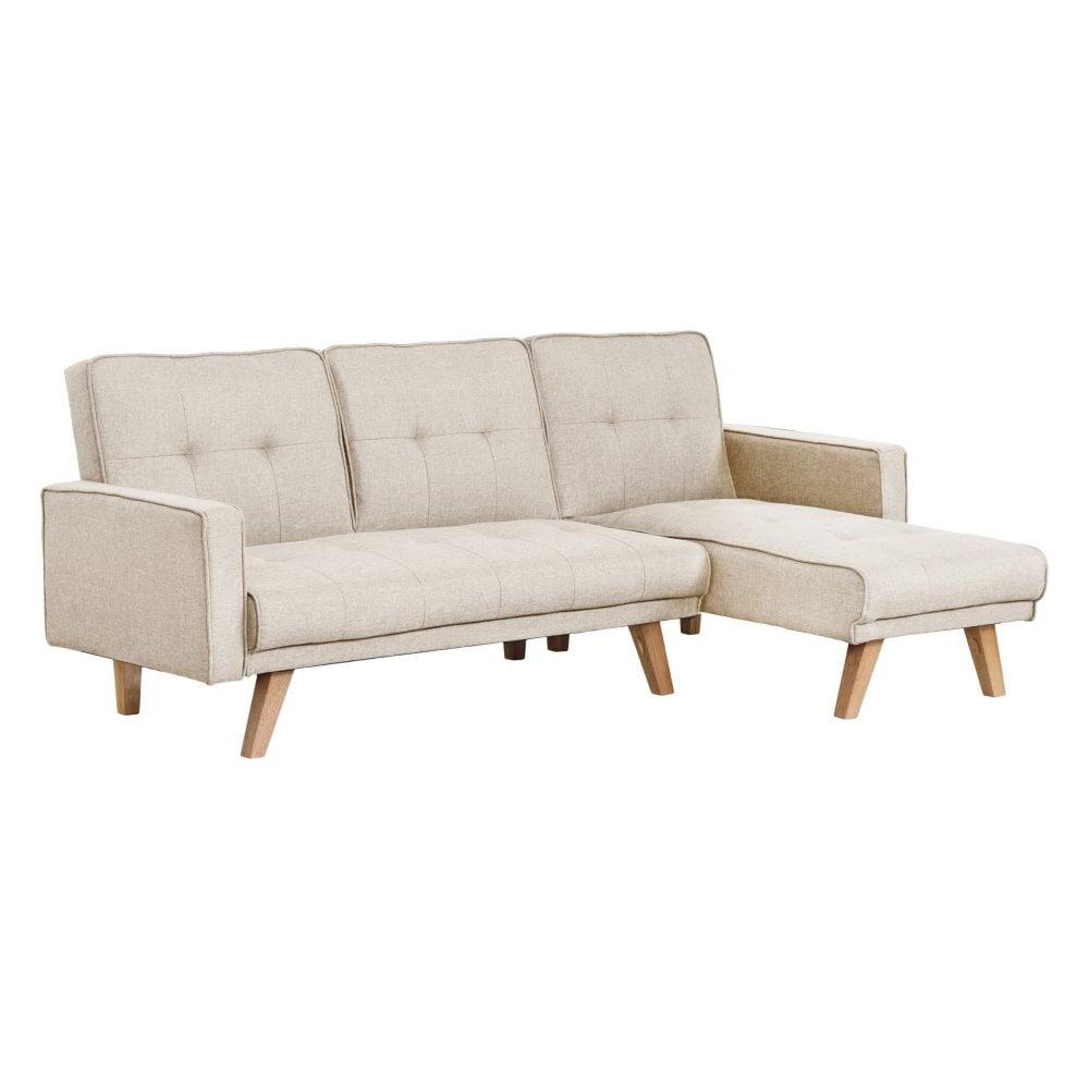 0f3bef427 LPD Furniture Kitson L Shaped Sofa Bed Beige