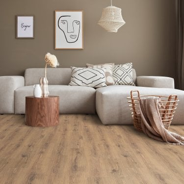 Krono Original Eurohome Kronoclic 6mm English Oak Straight Edge Laminate Flooring (8718)