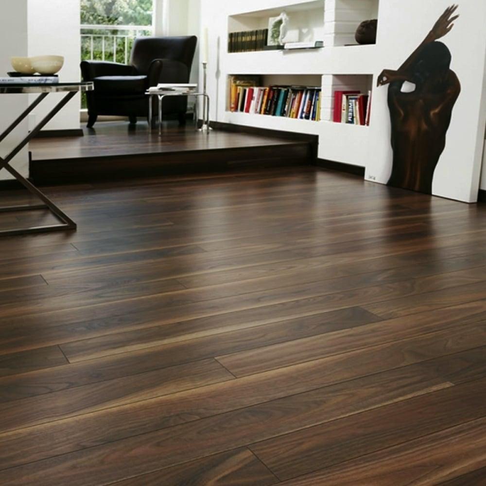 Krono original vario 12mm rich walnut laminate flooring for Walnut laminate flooring