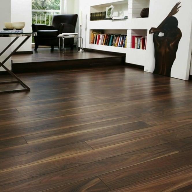 Krono Eurohome Vario+ 12mm Rich Walnut AC4 Laminate Flooring (7658) : Leader Stores