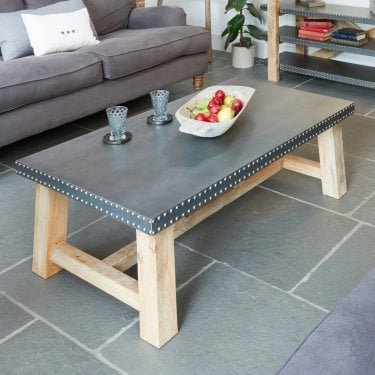 Kuba Studded Zinc Coffee Table