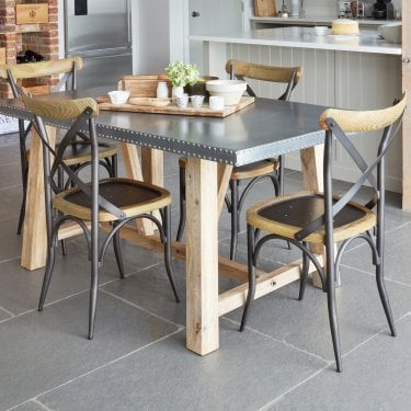 Kuba Studded Zinc Dining Table