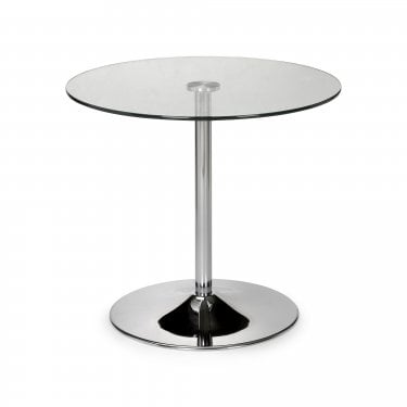 Kudos Chrome & Glass Dining Table